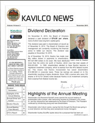 2015 Kavilco November Newsletter.